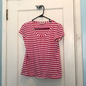 Tops - Pink and White Striped T-shirt